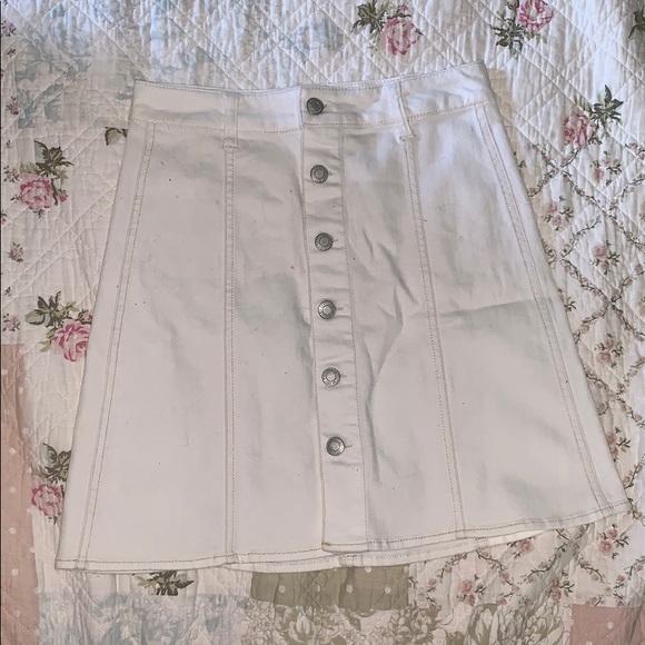 Dresses & Skirts - White Short Button Down Pencil Skirt